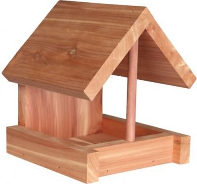 Mangeoire pour oiseaux du ciel en bois de cèdre