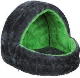 Abri douillet pour rongeur gris et vert