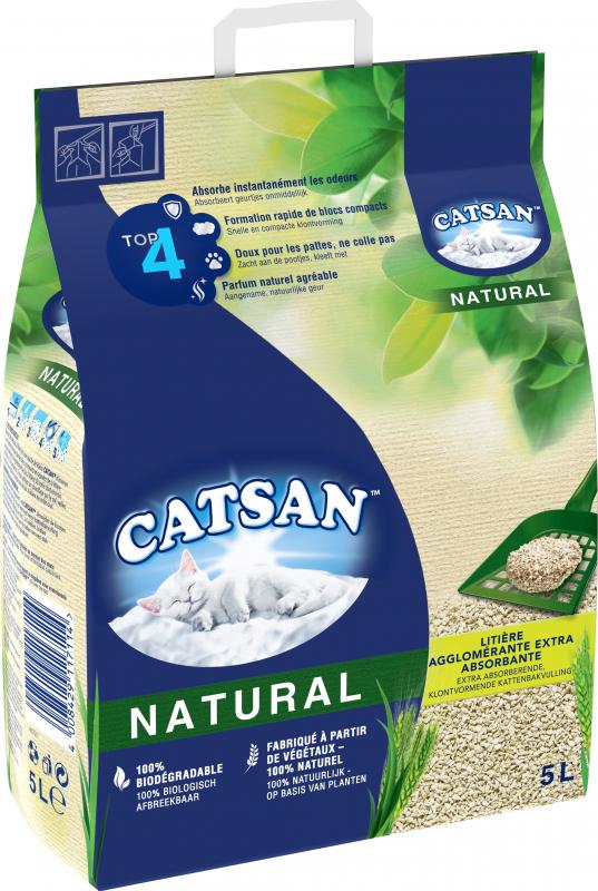 Klonterende kattenbakvulling CATSAN Natural 8L