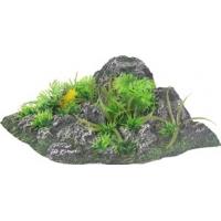 Décor Aquarium roche et plante Flamingo Condroz